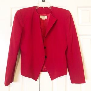 Christian Dior vintage red blazer wool jacket. 6
